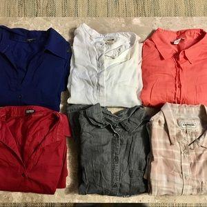 Bundle of 6 Large Assorted Brands Button Down Tops
